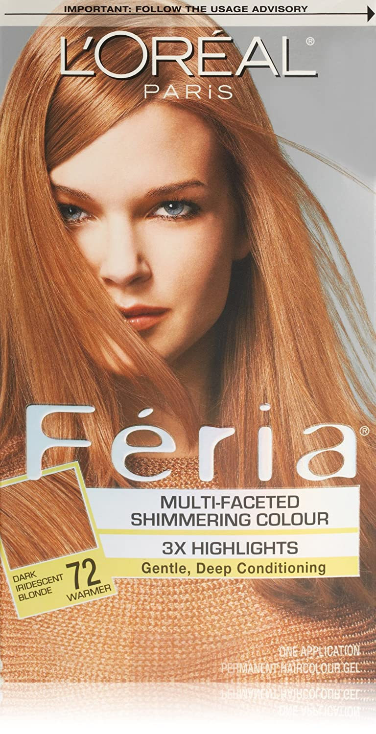 L'Oreal Paris Feria Multi-Faceted Shimmering ColorDark Iridescent Blonde, 72