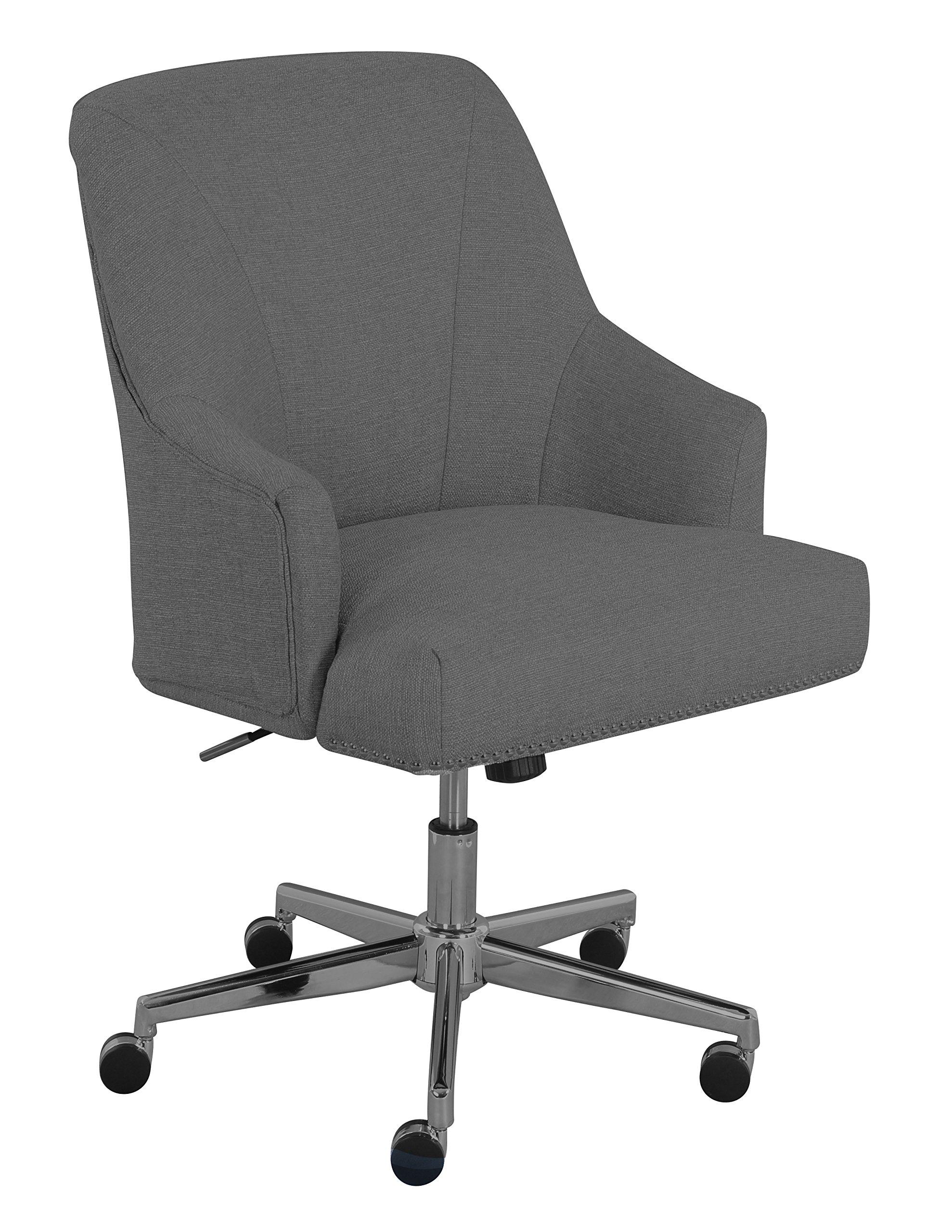 Serta ''Leighton'' Home Office Chair, Soft Medium Gray