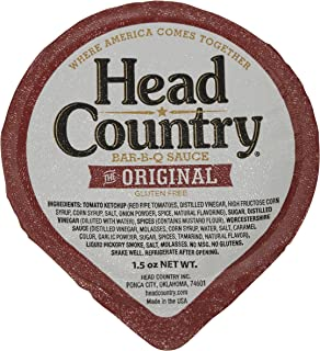 product image for Head Country Bar-B-Q Sauce, Original, 1.5 Ounce (Pack of 100)