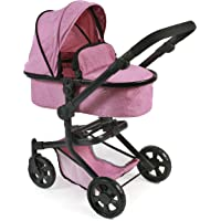 Bayer Chic 2000 Carrito Combinado para muñecas Mika 595 70, diseño de Color Rosa Tipo