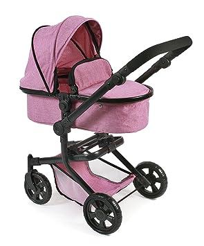 Amazon.es: Bayer Chic 2000 Carrito Combinado para muñecas Mika 595 70, diseño de Color Rosa Tipo Vaqueros: Juguetes y juegos