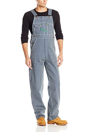 b2d59931 Key Apparel Men's Hickory Stipe High Back Bib Overall, Stripe, 30W x 30L.  Roll over image to ...