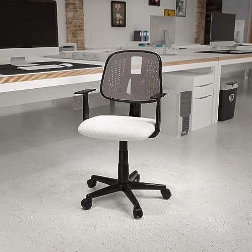Flash Furniture Flash Fundamentals Mid-Back White Mesh Swivel Task Office Chair
