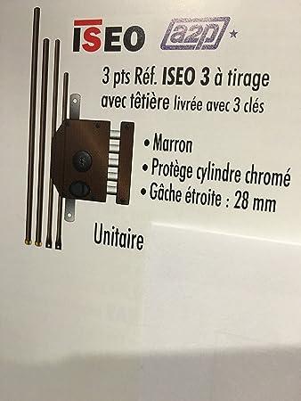 Cerradura 3 puntos en aplique Iseo 3 incluye 3 llaves izquierda ...