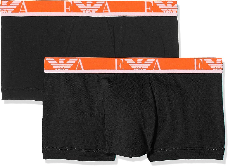 Emporio Armani Underwear 1112107P715, Calzoncillos Para Hombre, Pack de 2