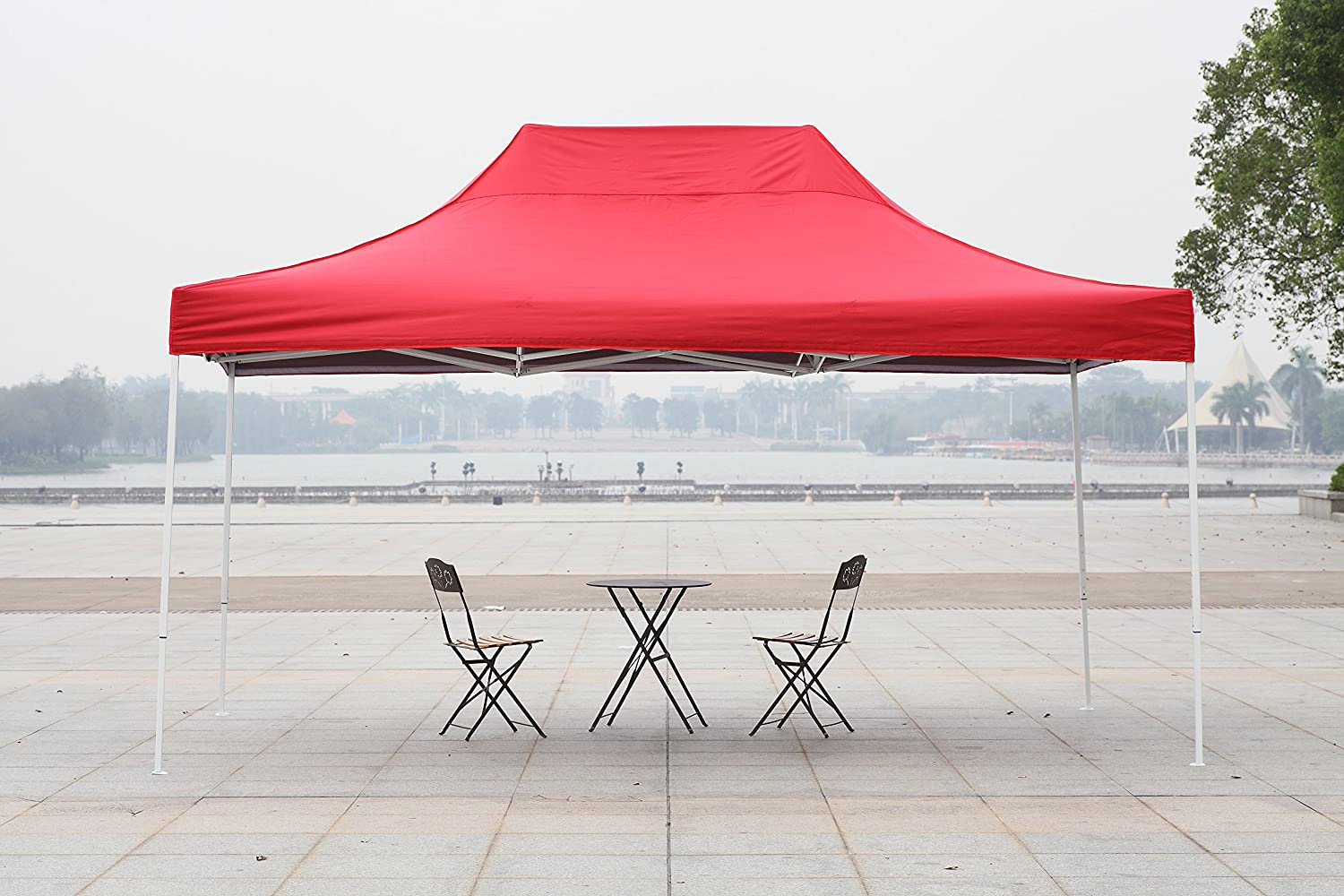 Amazon.com American Phoenix 10x10 10x15 10x20 [White Frame] Portable Event Canopy Tent Canopy Tent Party Tent Gazebo Canopy Commercial Fair Shelter Car ... & Amazon.com: American Phoenix 10x10 10x15 10x20 [White Frame ...