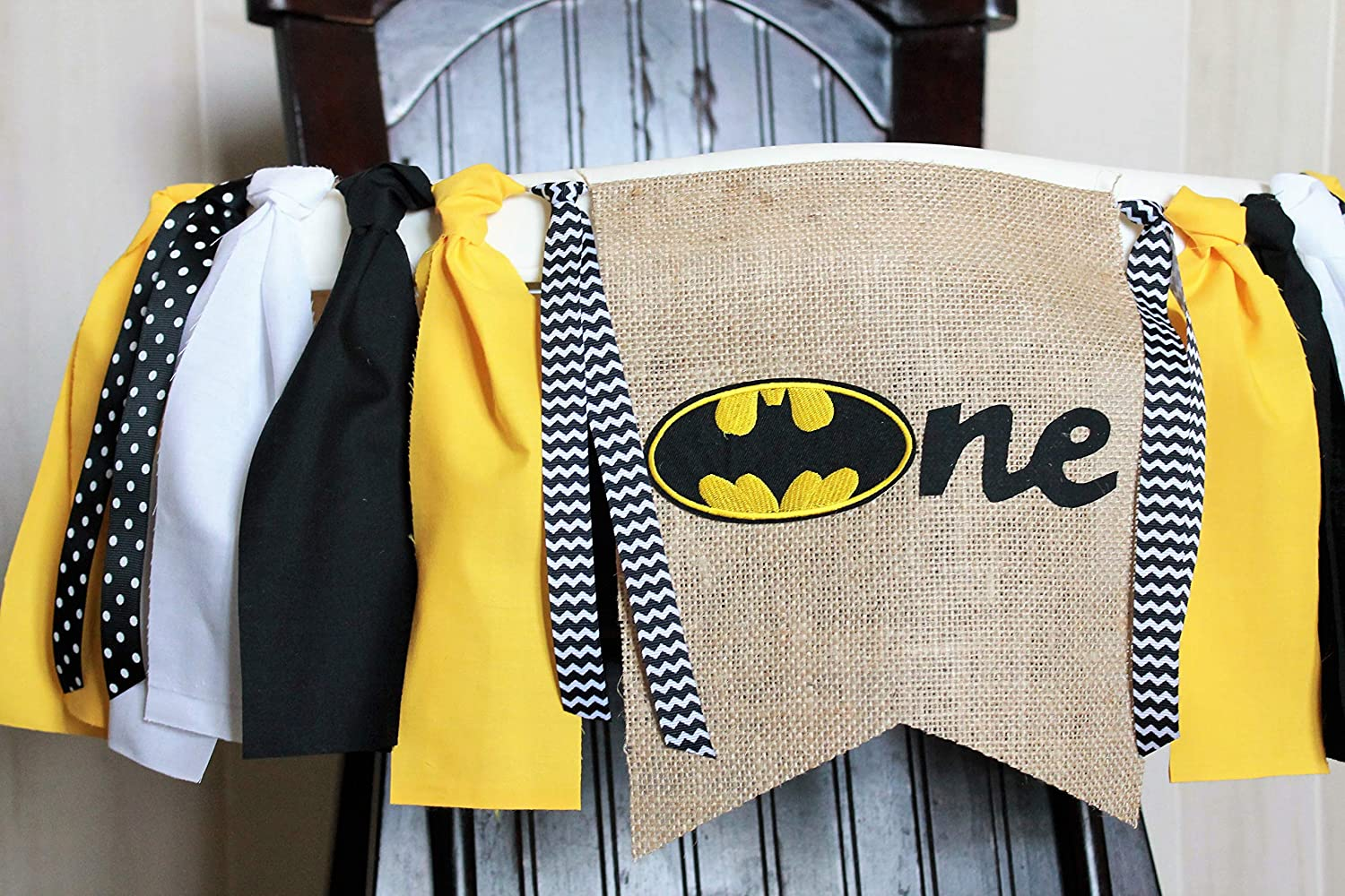 Superhero Banner 1st Birthday Banner Garland Superhero High Chair Banner