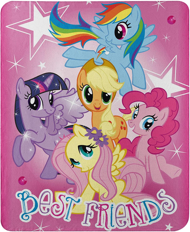 "Hasbro's My Little Pony, ""Happy Herd"" Fleece Throw Blanket, 45"" x 60"", Multi Color"