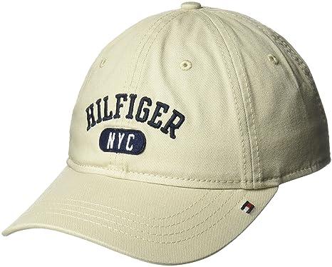 9344d0c4 Tommy Hilfiger Men's Dad Hat George Cap Baseball, Stone, One Size ...