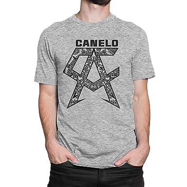 e0683776 USA Threadz Canelo Saul Alvarez Aztec Logo Grey T-Shirt for Men | Amazon.com