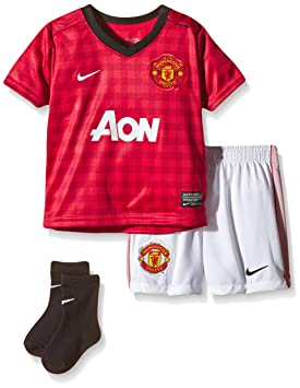 b8d81bda989 Nike Manchester United Infants Babies  Football Kit Red diablo red black white  Size