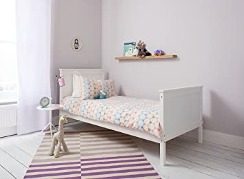 Noa And Nani Single Bed In White 3ft Single Bed Wooden Frame