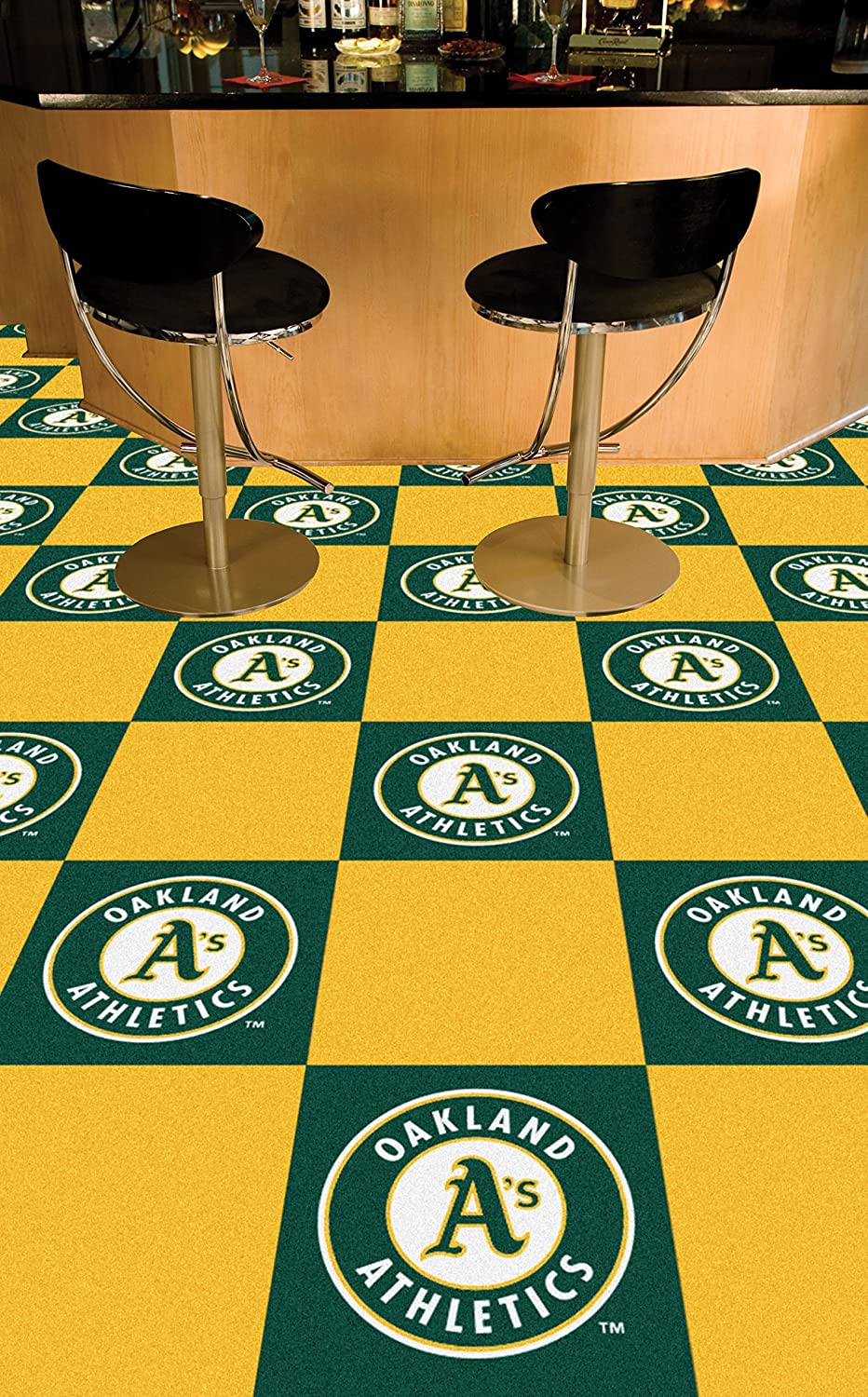 FANMATS MLB Oakland Athletics Nylon Face Team Carpet Tiles 8592