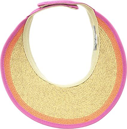 San Diego Hat Company Women/'s Visor With Contrast Color Stripe UPF 50 UBV047