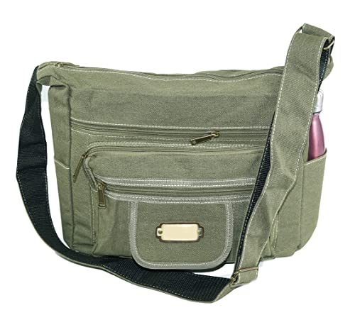 9c501fe0ec998 Storite Cross body Travel Office Business Messenger Shoulder Bag For Men  Women - (13x4.7x10 inch) -Olive Green  Amazon.in  Shoes   Handbags