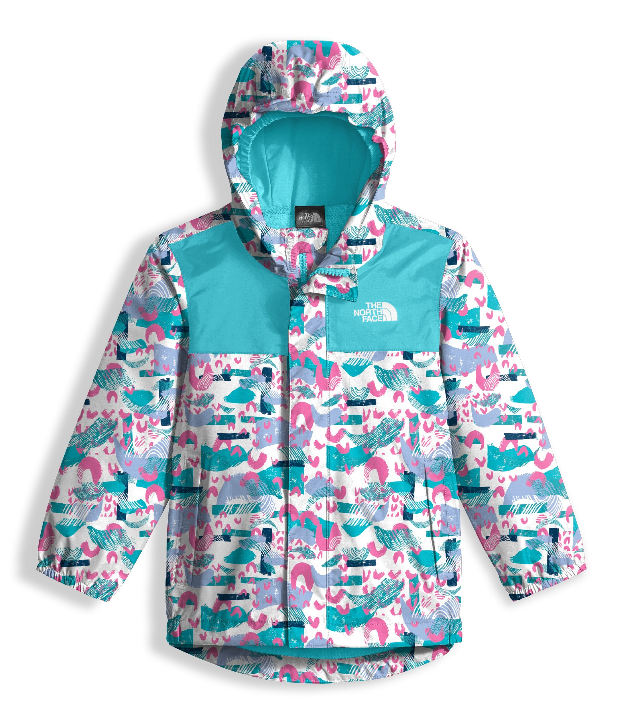 The North Face Toddler Tailout Rain Jacket - TNF White Rainbow Print - 2T