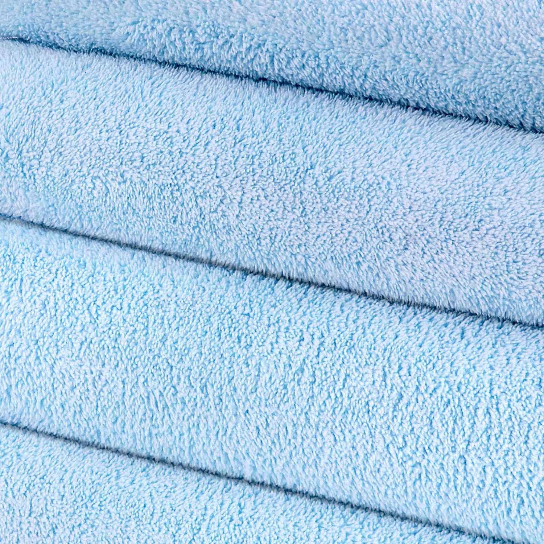 2 Toallas de Ba/ño+2 Toallas de Mano, Azul YOOFAN Juego de Toallas de 4 Piezas-Toalla de Ba/ño de Microfibra S/úper Suave S/ábanas de Ba/ño Ultra Absorbentes,Toallas de Secado R/ápido para SPA Piscina