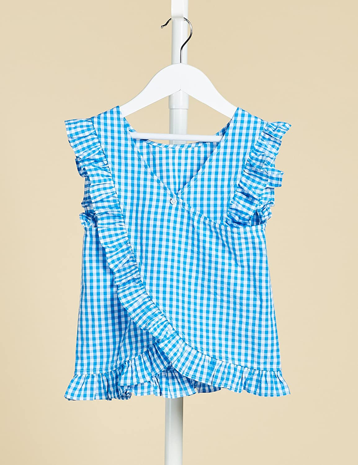 Marque RED WAGON Blouse Vichy /à Volants Fille