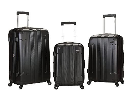 Amazon.com | Rockland Luggage 3 Piece Abs Upright Luggage Set ...