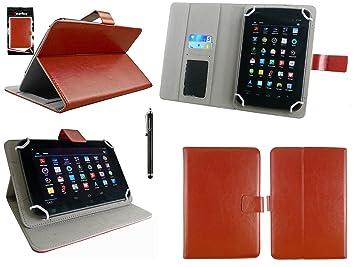 Emartbuy® Negro Stylus + Universal Marrón Multiángulo Ejecutivo Folio Wallet Case Carcasa Funda Con Las Ranuras Para Tarjeta Conveniente Para BQ ...