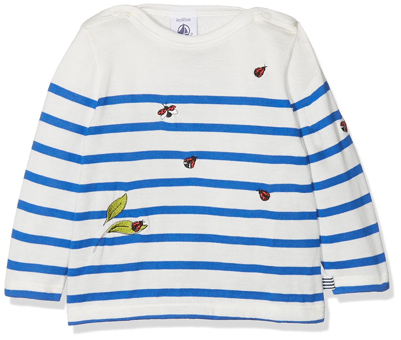 Petit Bateau Baby Girls' Tee Shirts Ml Jour T