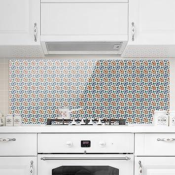 Tapete Für Küchenrückwand bilderwelten spritzschutz glas alhambra mosaik tapete mit