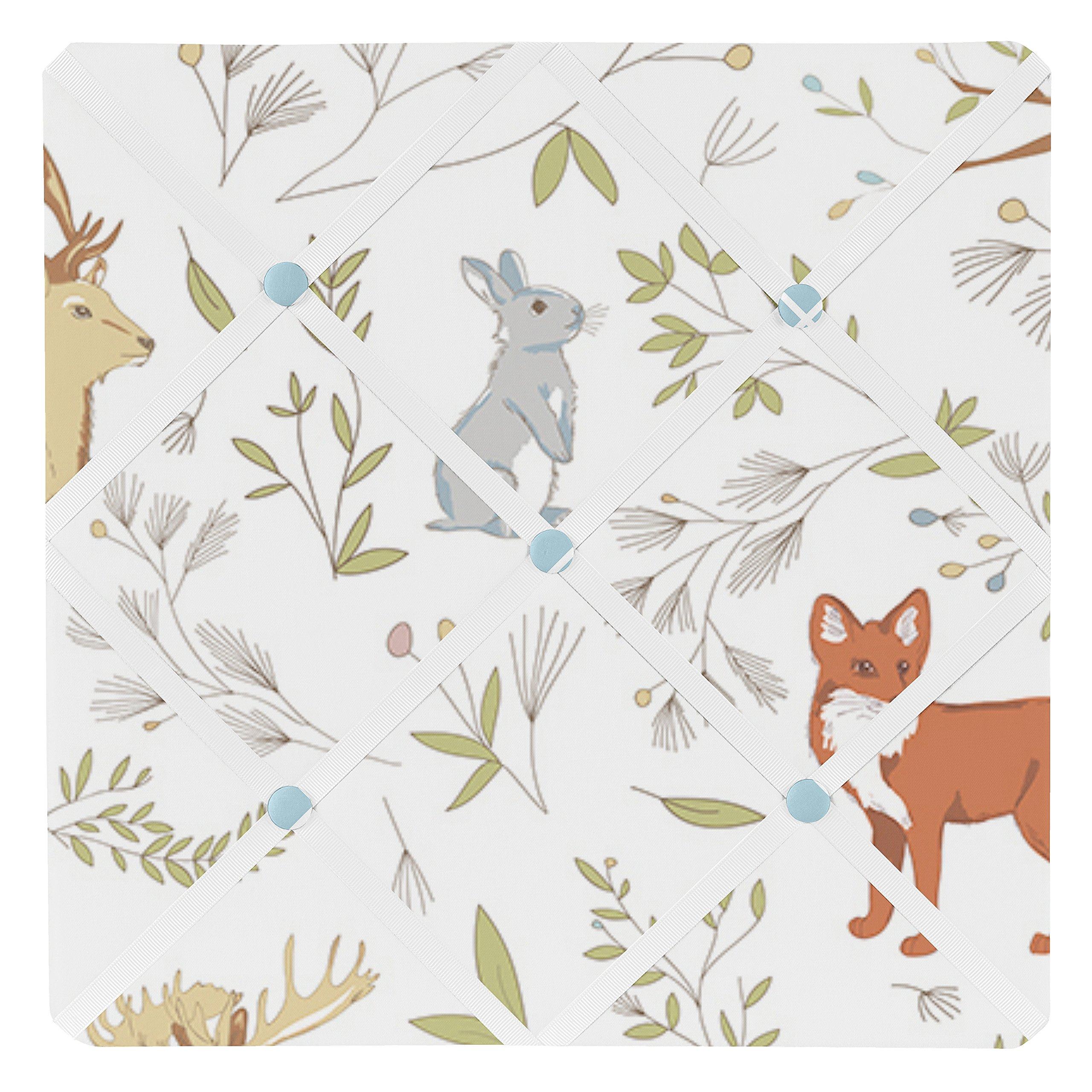 Sweet Jojo Designs Woodland Animal Toile Fabric Memory/Memo Photo Bulletin Board