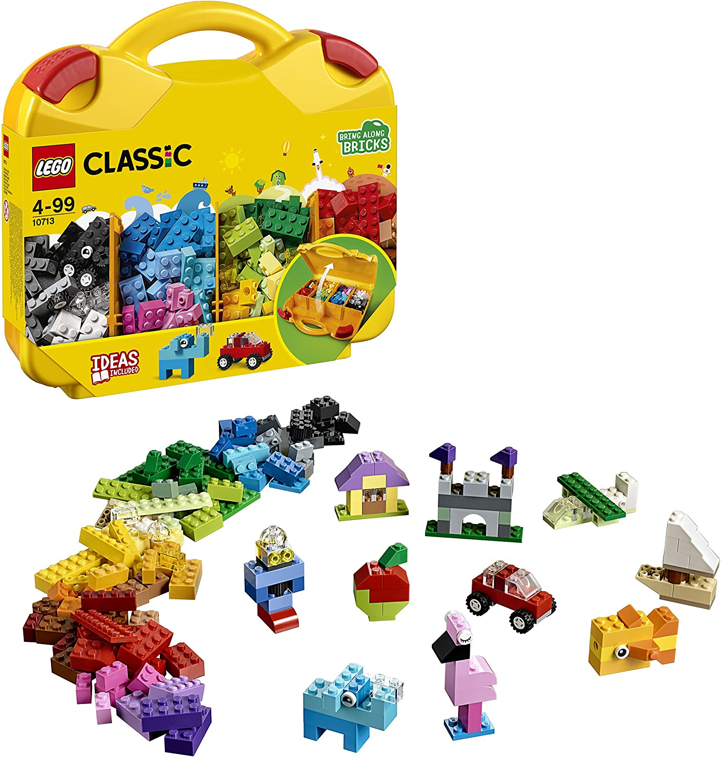 Lego 10713 Classic Creative Suitcase Toy Storage Fun Colourful Building Bricks For Kids Amazon Co Uk Toys Games