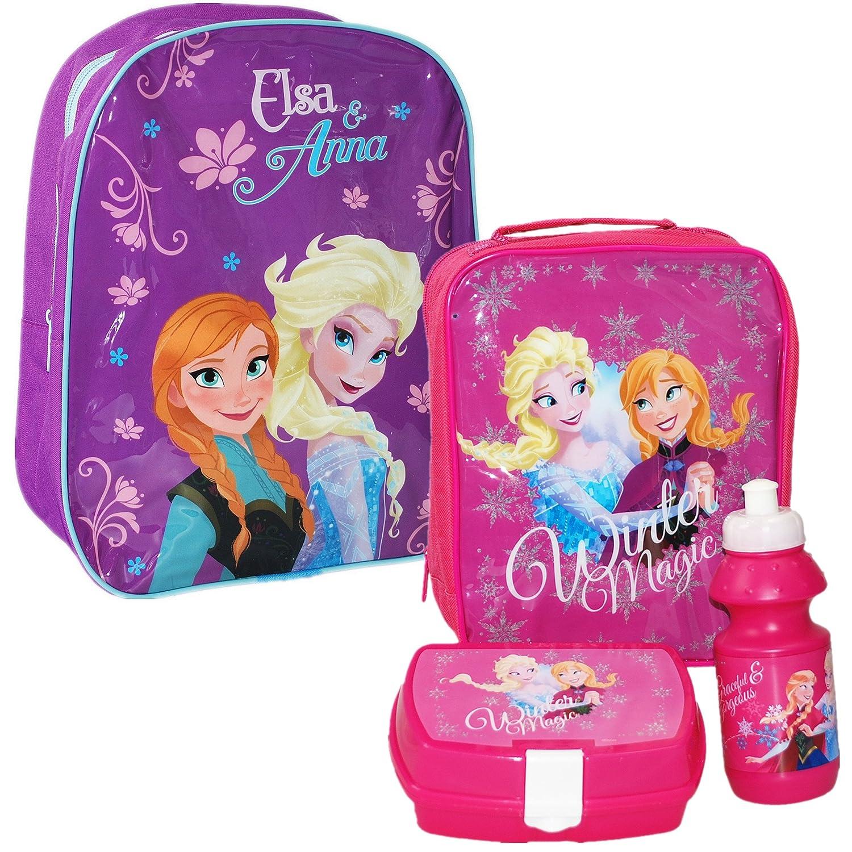 Disney® Frozen Kids School Travel Rucksack Backpack Bag and Lunch Bag Set