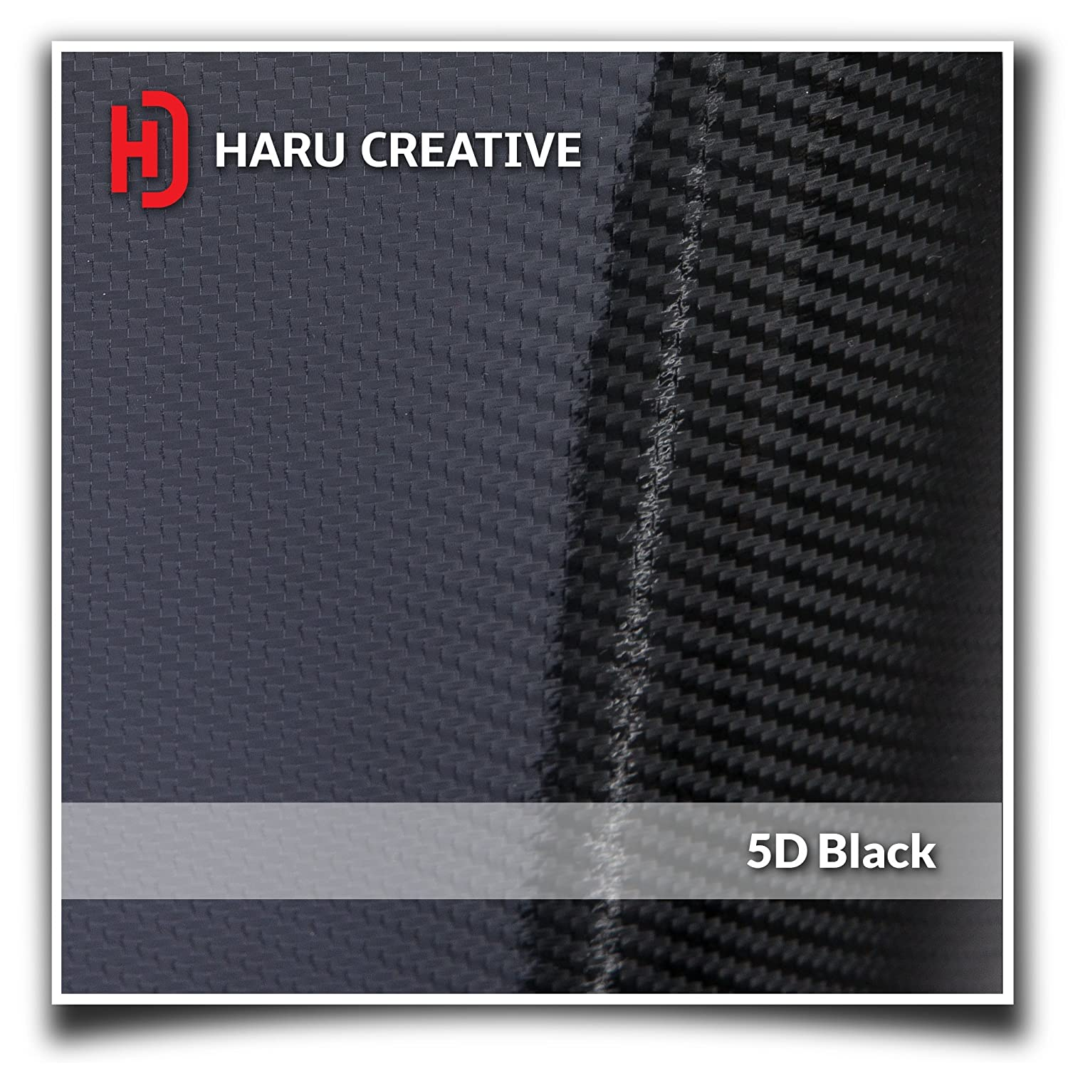 Front Grille Hood Rear Trunk Emblem Letter Insert Overlay Vinyl Decal Compatible with and Ford Focus ST 2013-2019 Haru Creative 5D Gloss Carbon Fiber Black