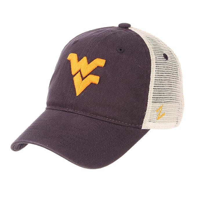 0c389496d225ce czech zephyr ncaa relaxed fit vintage university adjustable trucker hat cap  west virginia mountaineers d4a56 df8cf