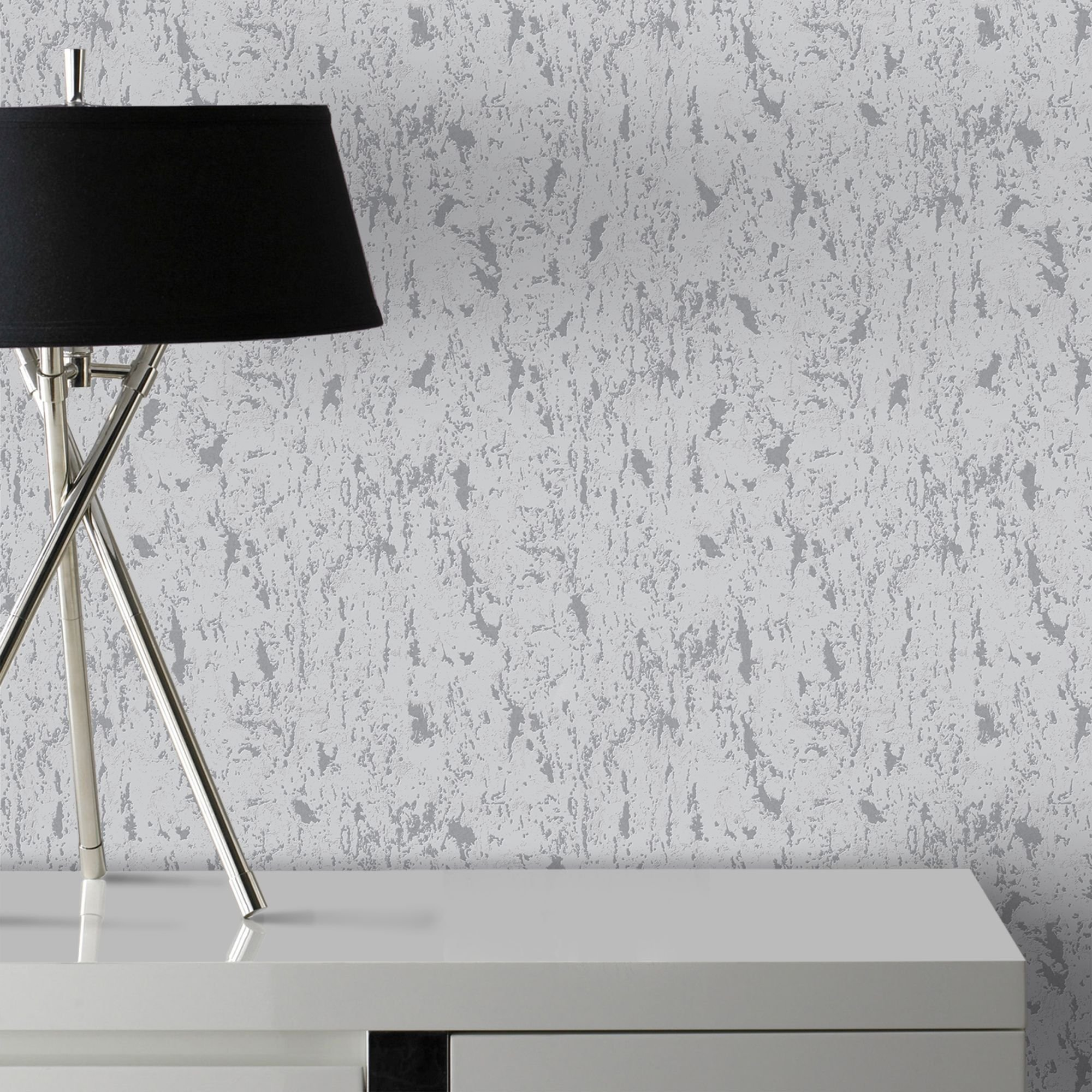 Superfresco Easy Silver Milan Illusion Plain Wallpaper