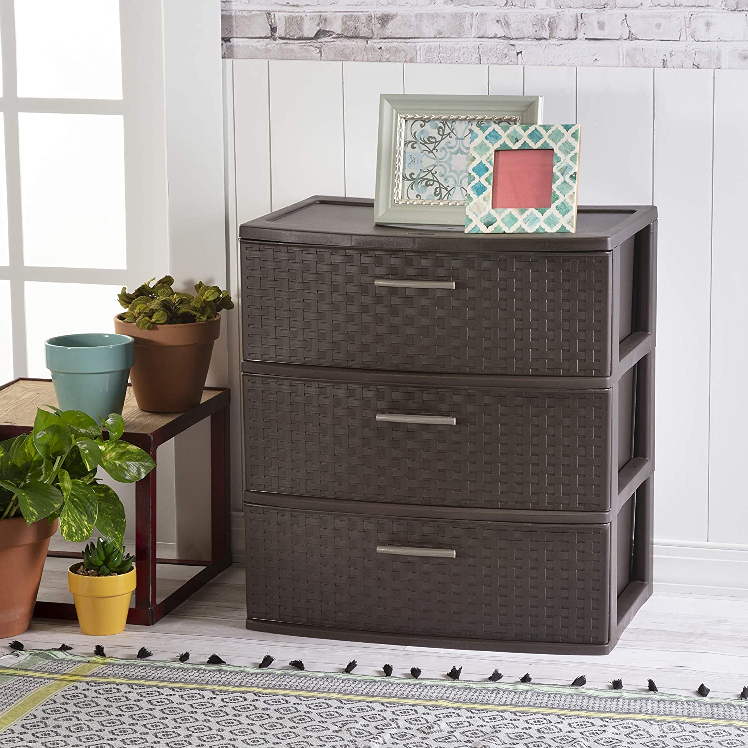 Sterilite 25306P01 3 Drawer Wide Weave Tower: Home & Kitchen