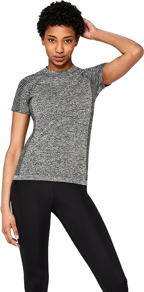 Marca Amazon - AURIQUE Camiseta Deportiva sin Costuras Mujer: Amazon.es: Ropa y accesorios