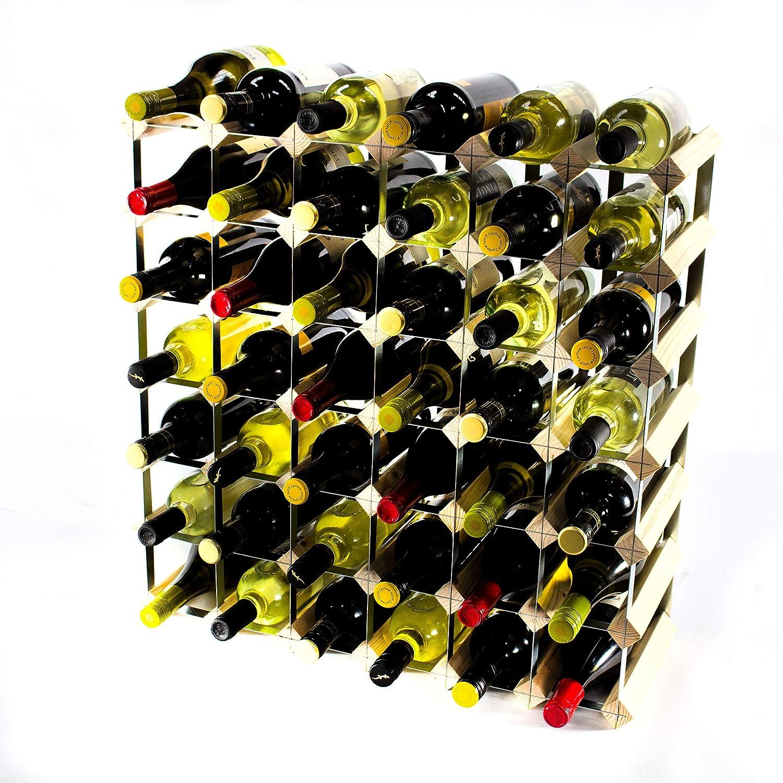Cranville wine racks Klassische 42 Flasche Kiefernholz und verzinktem Metall Weinregal fertig montiert