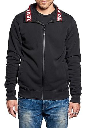 8a635797ce91 Deeluxe Sweat Zippé Lupo Noir - Taille XL  Amazon.fr  Vêtements et ...