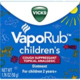 Vicks Vaporub Childrens Soothing Chest Rub Cough Suppressant Ointment, 1.76 Oz