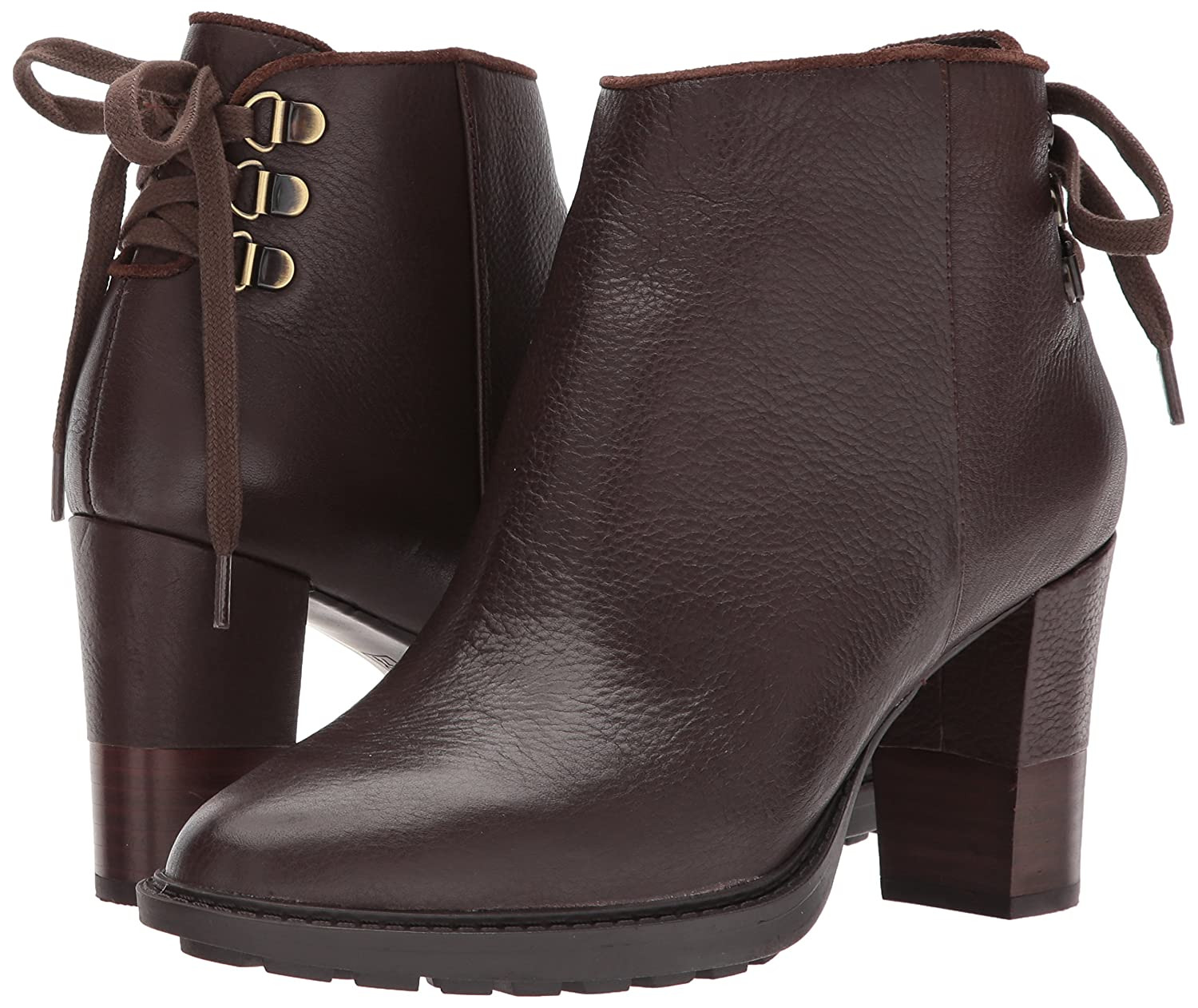 Aerosoles Women's Fact Fiction Ankle Boot B06Y613QYC 8.5 B(M) US|Dark Brown Leather
