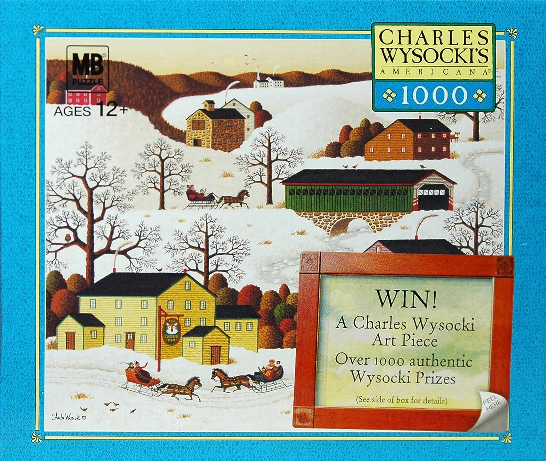 CHARLES WYSOCKIs AMERICANA PUZZLE Pass The Fox Creek Inn 1000 Piece