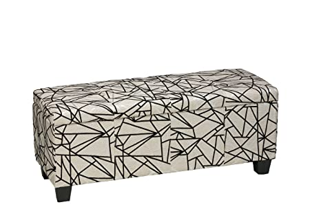 Cool Cortesi Home Zig Zag Fabric Storage Ottoman Bench Amazon Co Ocoug Best Dining Table And Chair Ideas Images Ocougorg