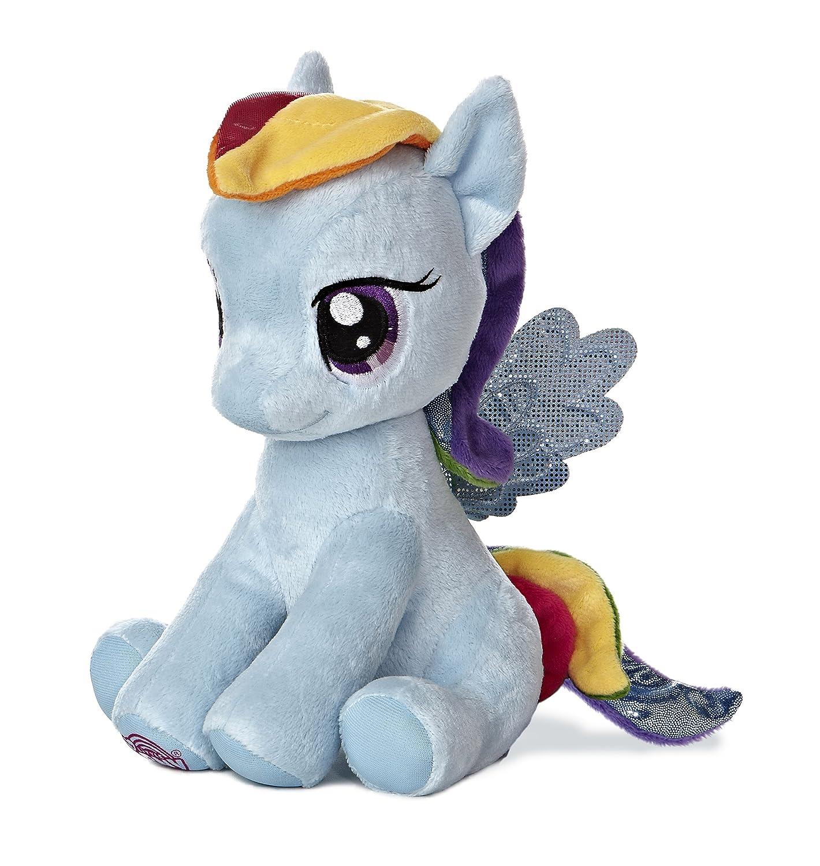 Amazon.com  Aurora World My Little Pony Seated Rainbow Dash Pony Plush 78324b1bde76