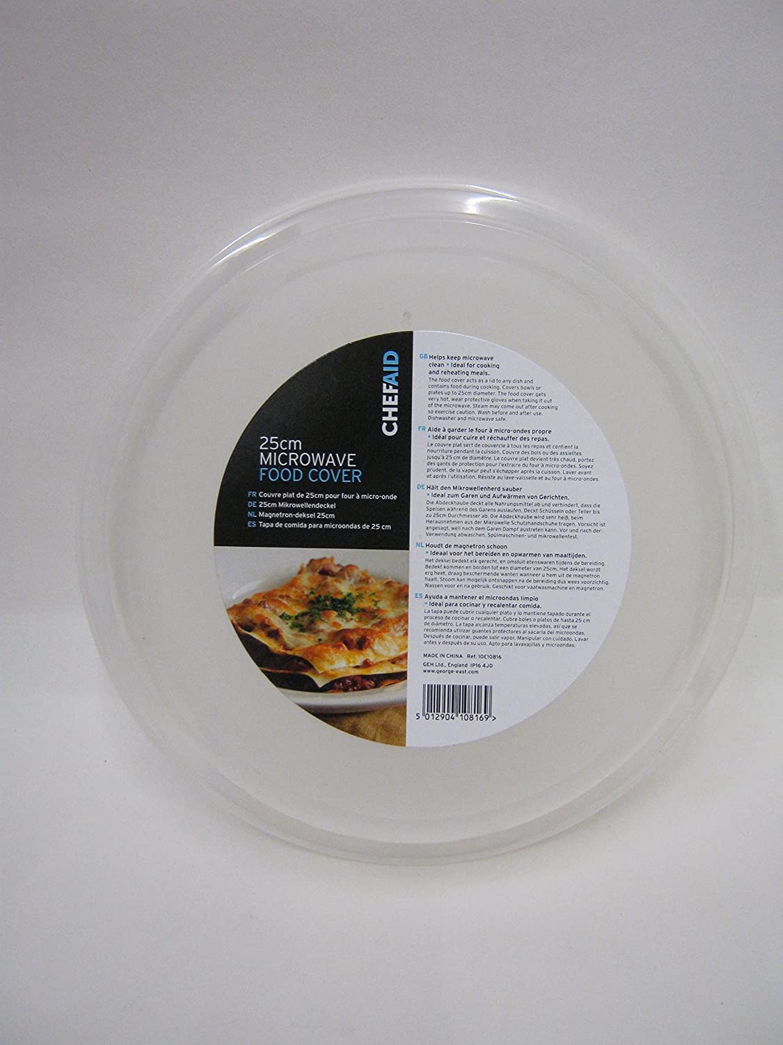 Chef Aid 25cm Microwave Food Cover George East Housewares 10E10816