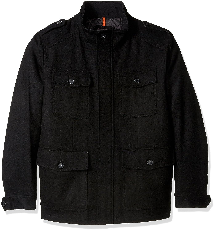Dockers Men's Big Wool Melton Four Pocket Military Black 3X Dockers Men's Outerwear DMJXB815
