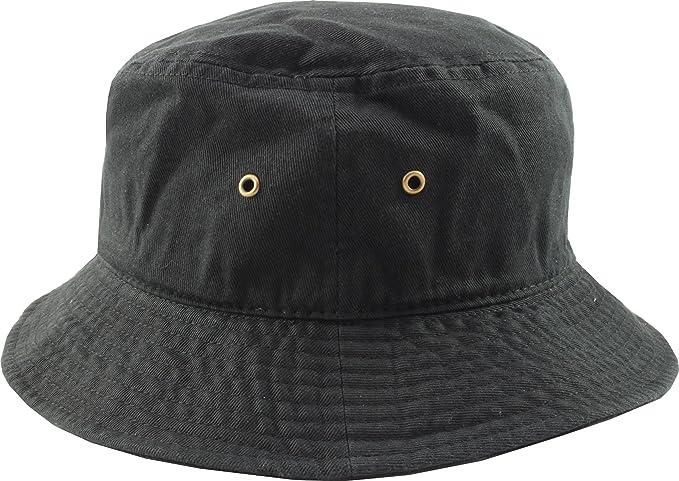 cappello da pescatore - 100% cotone Nero Small   Medium  Amazon.it ... 9629d5df0819