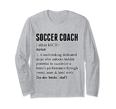 Amazon.com: Entrenador de fútbol Coach definición playera de ...