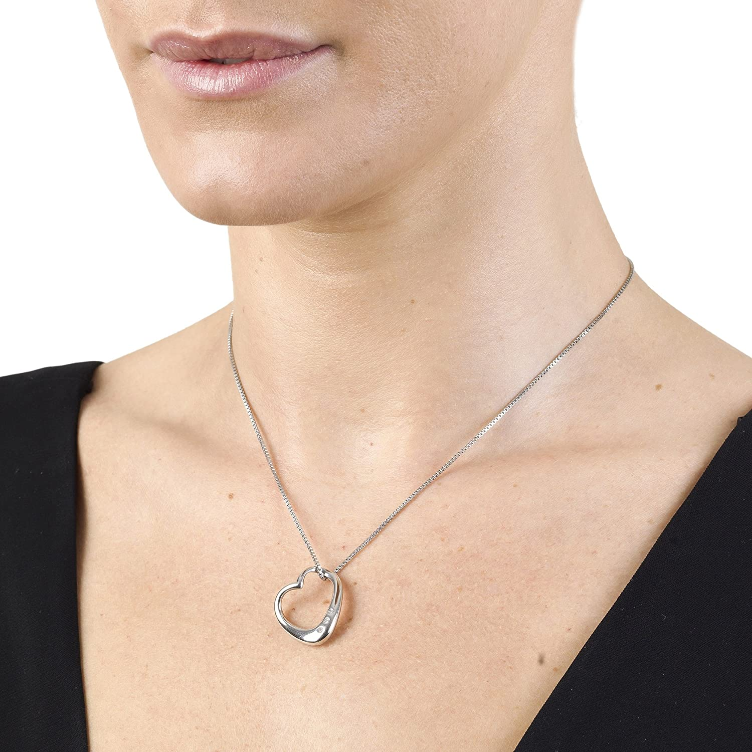 image diamonds necklace infinity hot heart from jewellery ladies
