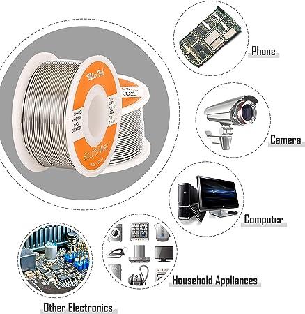 60//40 Tin Lead Rosin Core Solder Wire Sn60 Pb40 Flux 0.8mm 1.1 LB 1LB 500g