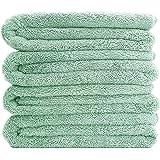 Polyte Quick Dry Lint Free Microfiber Bath Towel, 57 x 30 in, Set of 4 (Light Green)