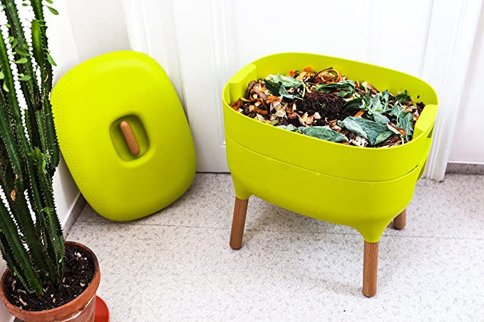 (Green) - Urbalive Indoor Worm Farm - Organic Compost Vermicomposter, Chic European Design (Green): Amazon.es: Jardín