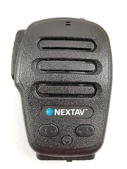 NEXTAV H3B Bluetooth Push-to-Talk PTT Headset for Android (for Zello,  ESchat app), Black